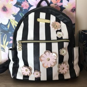 betsey johnson • striped floral backpack